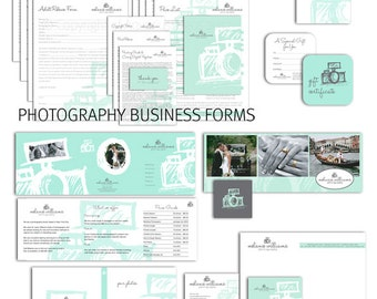 Photography Marketing set and photography contract business forms branding set - all editable psd files