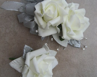 25th Anniversary Corsage And Boutonniere Set.