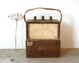 Antique Hartmann & Braun Voltmeter, Rare, Collectable Voltmeter, 1950's