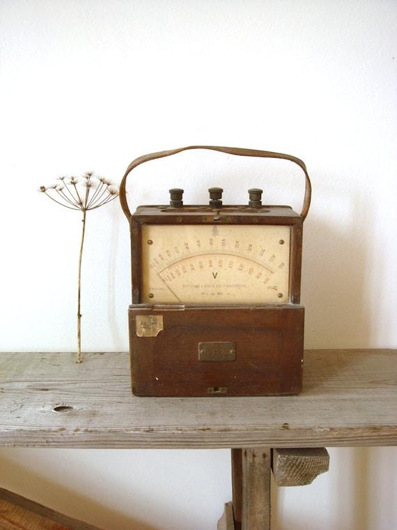 Antique Volt Meter : Items similar to antique hartmann braun voltmeter rare