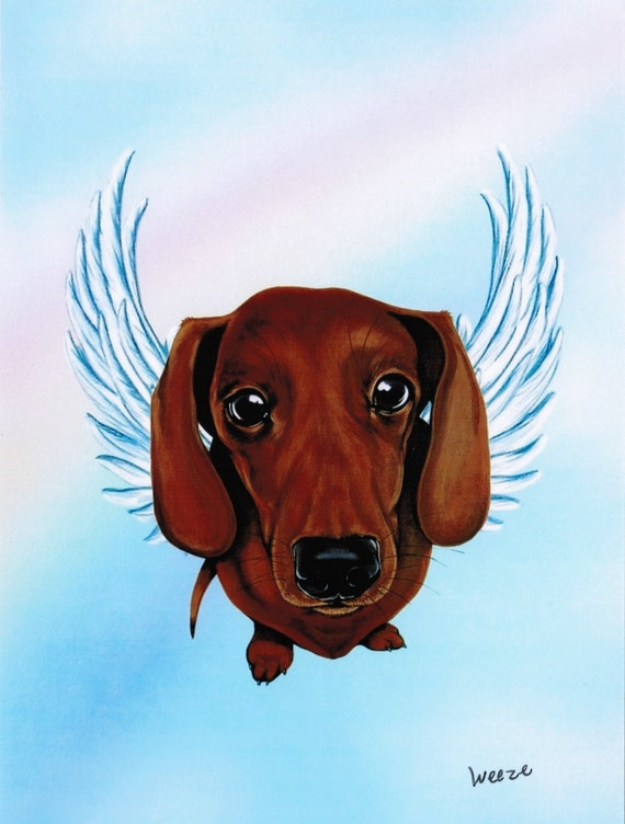 Dachshund Dachshund Angel Dachsund Angel By Artbyweeze On Etsy