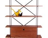 Retro walnut mid century modern Go-shelving shelving unit and Go-storage box (extra).