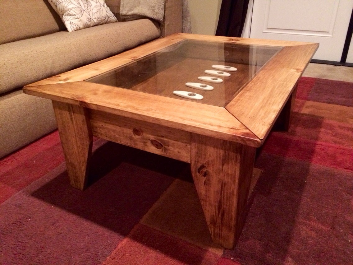 Wood And Glass Table Diy: Custom Coffee Table With Hinged Lift Top To By JermCreationz