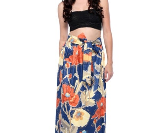 Floral Print Full Maxi Skirt / Midi Skirt - Available in 6 Different Prints