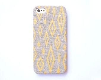 FABRIC - Gold iPhone 6 case, Ikat Iphone case, Geometric iPhone 5 case,  iPhone 5c case, Tribal iPhone case