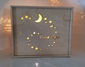 Good Night Light Box ~ Night Light. Kids Room. Original Gift for Kids. Pin it to your Pinterest page if you like it!