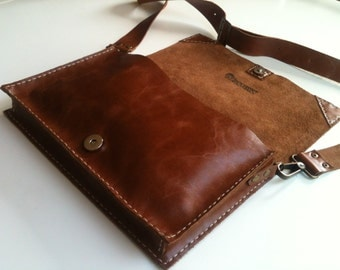 Ladies Bag, Handstitched Leather Purse, Clutch