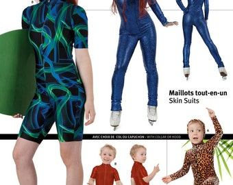 Jalie Skinsuit Wetsuit, UV Suit or Modest Skating & Swimwear Sewing Pattern # 3135 Women, Girls in 22 Sizes
