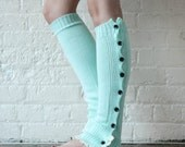 Leg Warmers, Mint Leg Warmers, Boot Toppers, Gift For Her, Bridesmaid Gift, Winter Wedding, Women's socks, Knee Socks, Stocking Stuffers