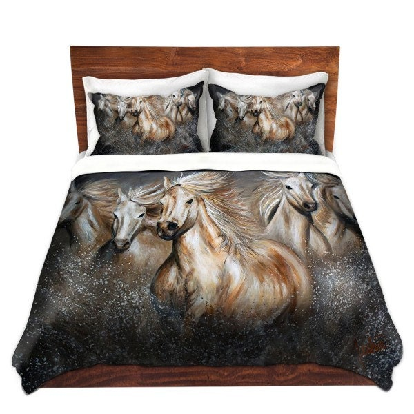Wild horses running duvet cover bedding by for Wild bedding