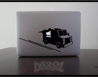 Food Truck  - Macbook Air, Macbook Pro,  Macbook decals, sticker ,Vinyl Mac decals ,Apple Mac Decal, Laptop, iPad