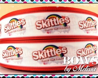 "1"" Skittles Ribbon 5 Yards"