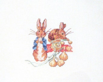 cross stitch peter rabbit beatrix potter  CHART INSTRUCTIONS ONLY lakeland artist new