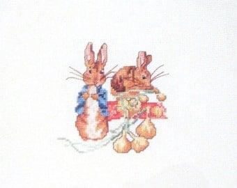 cross stitch peter rabbit beatrix potter  CHART INSTRUCTIONS ONLY lakeland artist new
