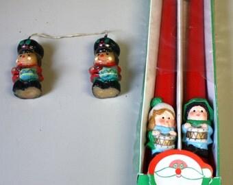 Lot of 1960s Christmas Drummer Candles - Hong Kong 10 Inch