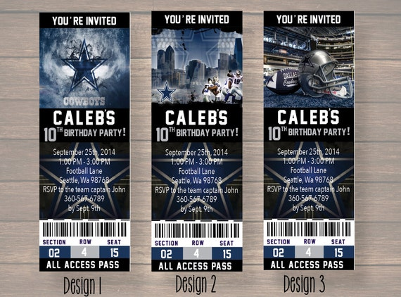 Dallas Cowboy Dallas Cowboy Birthday Invitation Dallas – Dallas Cowboys Party Invitations