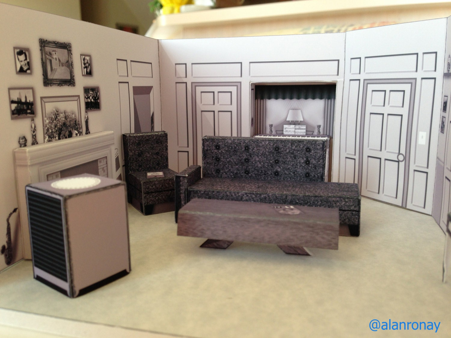 I Love Lucy Apartment Scale Model 623 E By Everydayminiatures