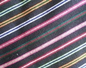 2.5 yards x .87 yard Mexican FABRIC with different NEON stripes (cambaya)
