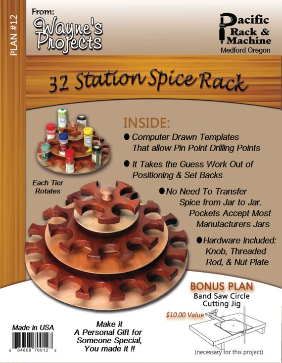 32 Station Spice Rack Plans