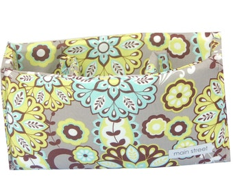 NEW Teal and Green Floral Removable MEDIUM padded camera insert