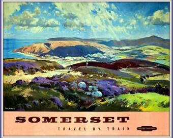 England British Rail Somerset Poster Print