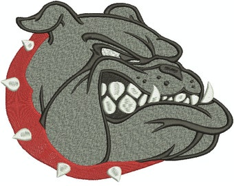Machine Embroidery Design Instant Download - Bulldog Head 1