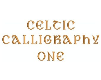 """Machine Embroidery Design Instant Download - Monogram Font """"Celtic Calligraphy 1"""""""