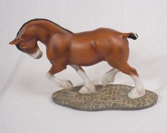 Franklin Mint- Horses of the World- Clydesdale-