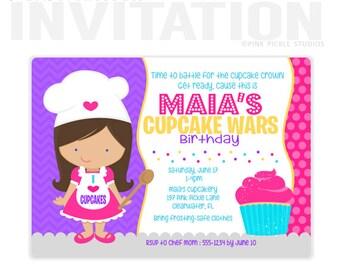Cupcake Invitations, Cupcake Invitation, Cupcake Birthday Invitations, Cupcake Party Invitations, Cupcake Decorating Party Invitations :197
