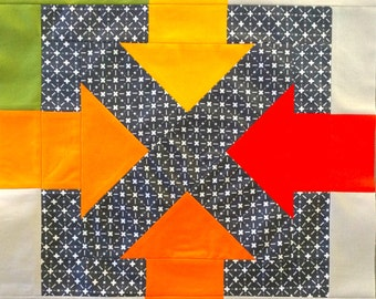 Pushme Pullme Quilting Block Pattern