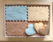 Daddy's First Father's Day Cookie Gift Set - new Father gift set, gift for new dad, free postage to UK mainland