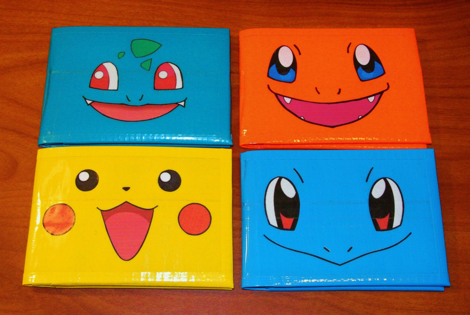 Pokemon Duct Tape Wallets Featuring