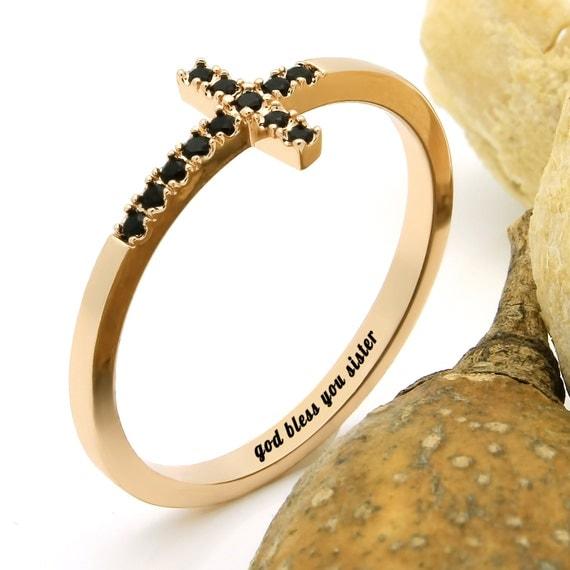 gold cross ring promise ring gold cross ring god by