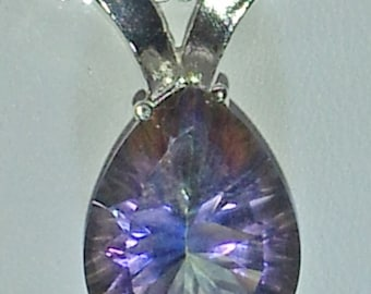 7.30ct Pear Mystic Topaz Sterling Silver Pendant