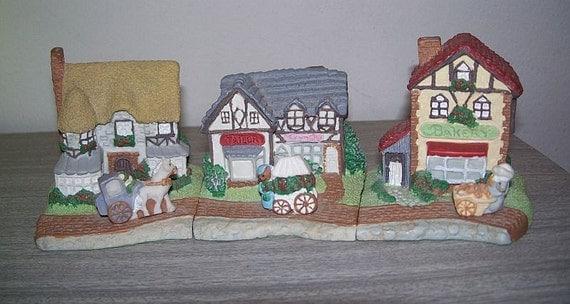 Sunny Cottage Lane set - Avon Collectible - 1994