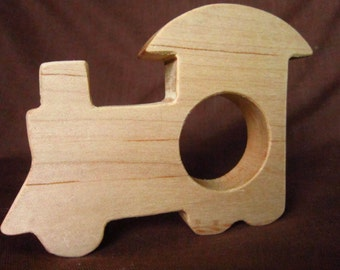 Wood Train Teether