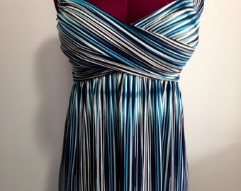 Aztec watercolour maxi dress