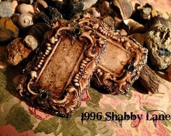Handcrafted  Vintage Inspired BoHo Chic Frame Pendants
