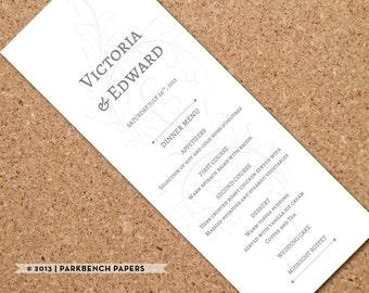 Wedding Menu Template Printable Wedding Dinner Menu, Editable Wedding Menu Card, Printable Template, Printable Menu   2400