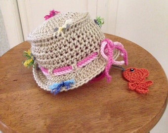 Crocheted Fishing Hat for Little Girl