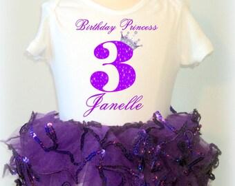 Purple Princess Birthday Tutu Outfit - Sparkle Tutu