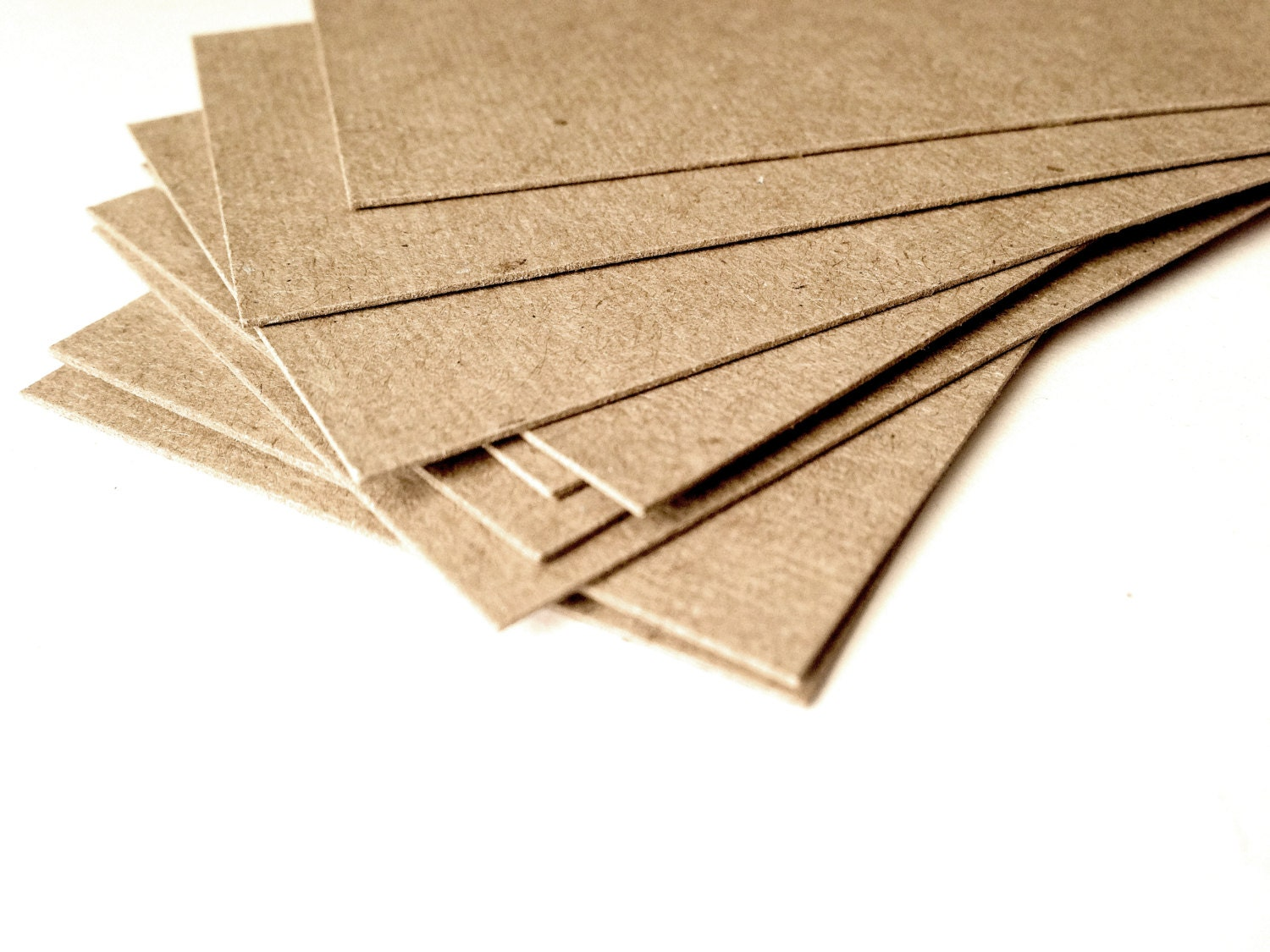 Blank business cards Set of 100 Thick card Kraft Craft