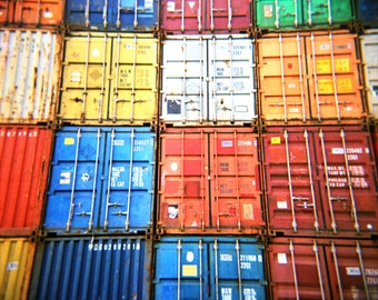 Shipping containers, Holga photograph