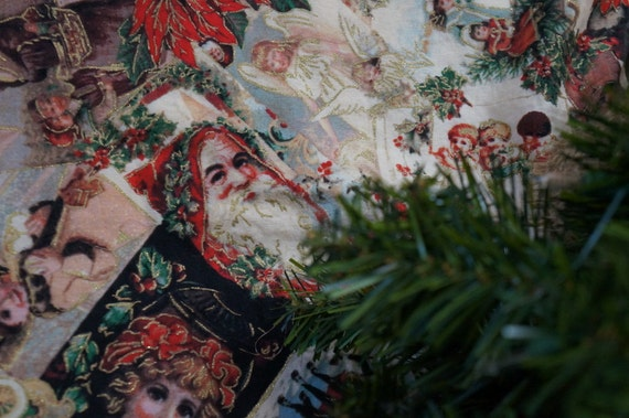 Victorian christmas tree skirt antique inspired