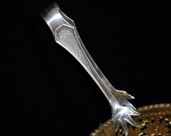 Sterling Silver Tongs, vintage silver, Beautiful sugar tongs, sugar cube, vintage, collectible, Fabulous gift idea #3a