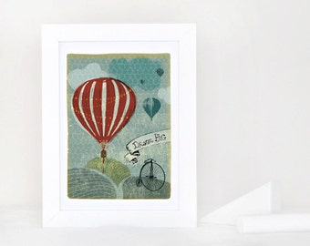 Dream Big Balloon Art Print - 5x7