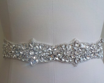 SALE - Wedding Belt, Bridal Belt, Sash Belt, Crystal Rhinestone - Style B8877