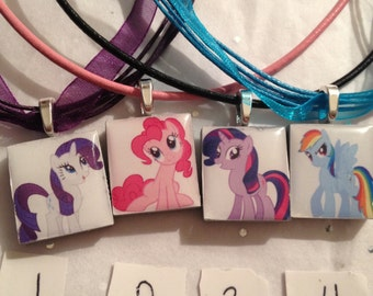My Little Pony Necklace or Zipper Pull