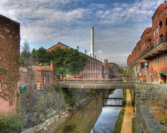 The Historic C&O Canal and Factories in Georgetown