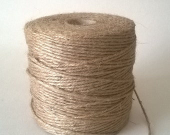 50m Natural Brown Shabby Style Rustic String Twine Shank Craft Jute!!